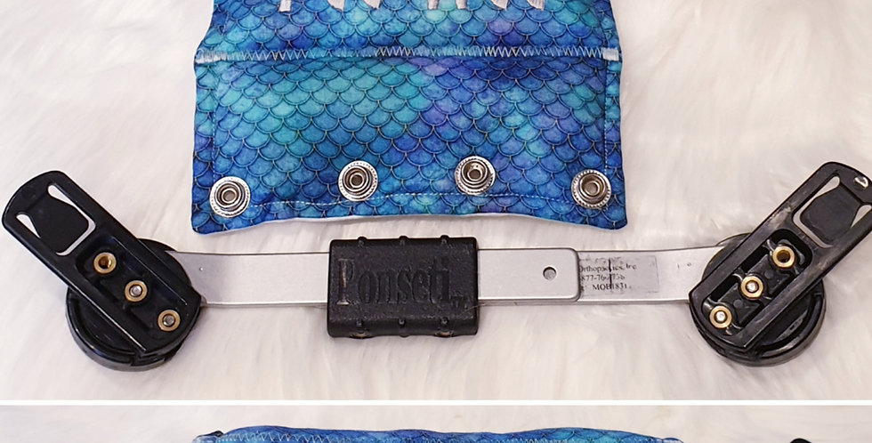Mermaids Scales Blue Cotton Bar Cover