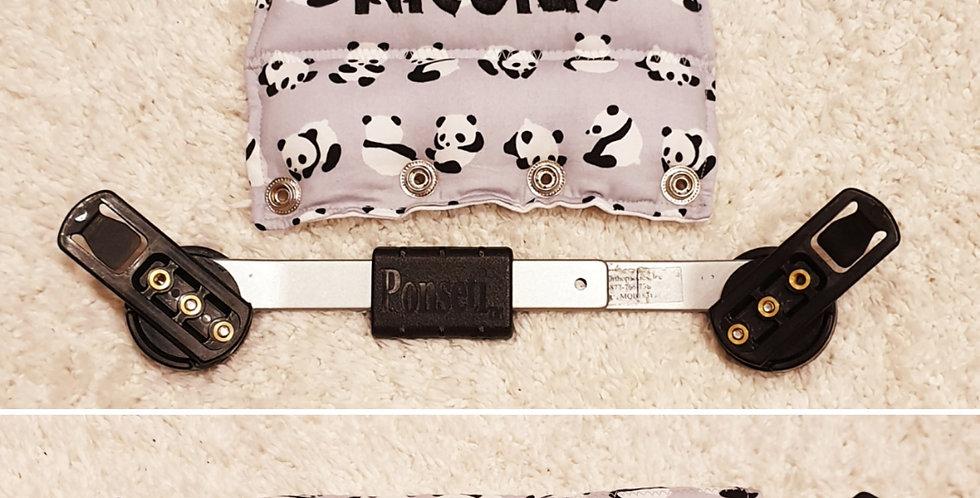 Pandas on grey Bar Cover