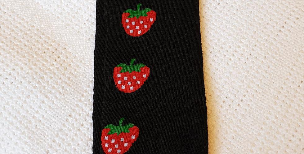 Strawberries on Black Leg Warmers