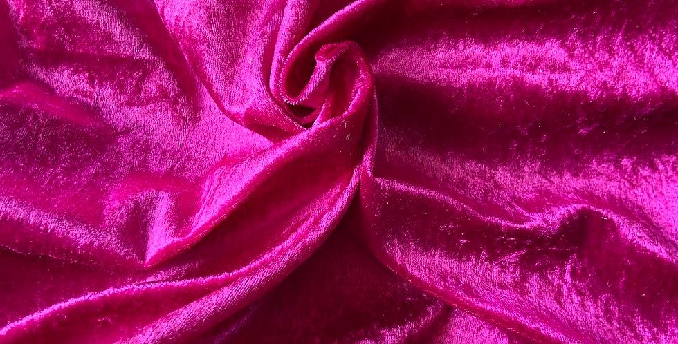 Fuchsia Pink Crushed velvet Bar Cover