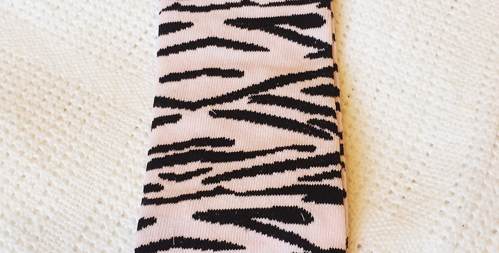 Pink and Black Leopard Print Leg Warmers