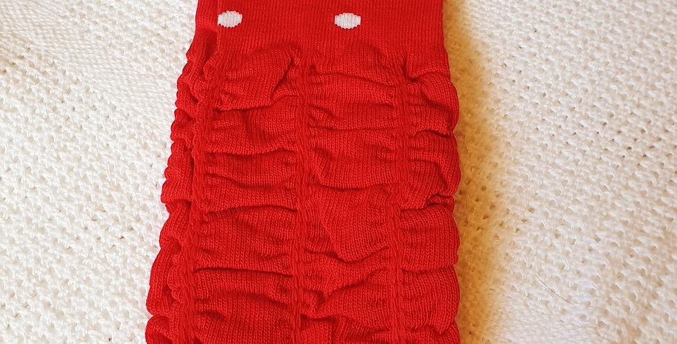 Red Ruffled Leg Warmers