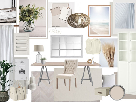 Calming Home Office Inspiration