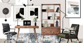 Home Office Inspiration: Neutral Mid-Century Modern by Alice Maughan