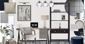 Sophisticated & Chic Home Office Inspiration by Becca Jordan-Haylock