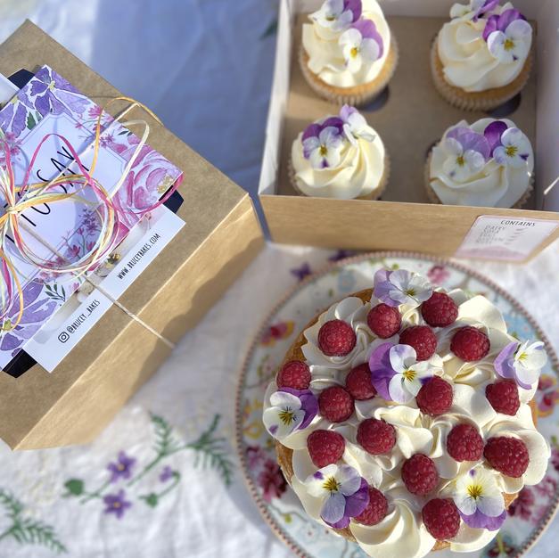 Lockdown Birthday Cake and Cupcakes