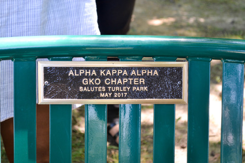 Turley Park Bench Dedication