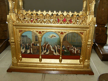 Compiègne Martyrs reliquary at Stanbrook Abbey