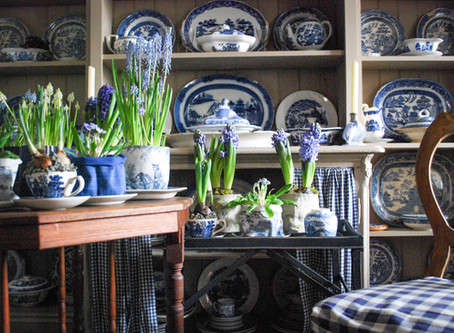 An Addiction to Blue and White