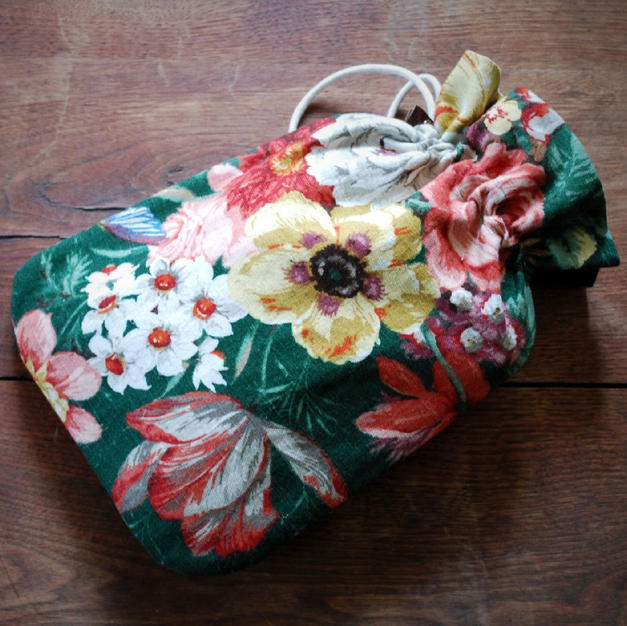 Drawstring Hot Water Bottle Cover
