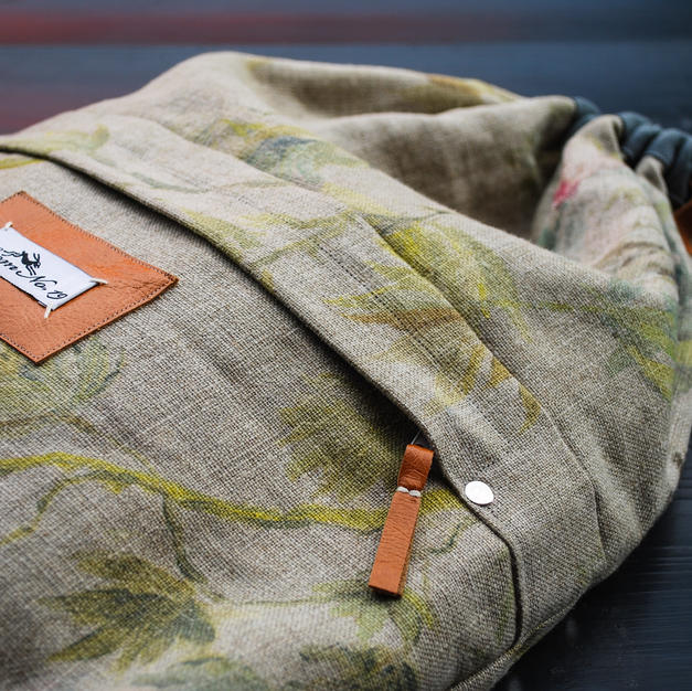 Drawstring Backpack with zip pocket
