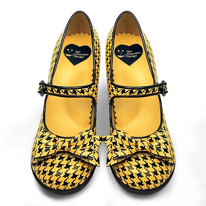 Pop Hounds Tooth  Yellow