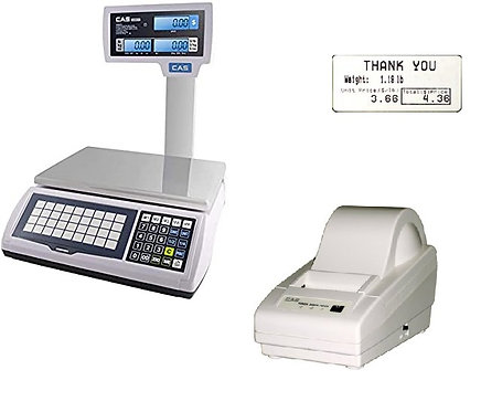 CAS S2000JR WITH DLP50 LABEL PRINTER