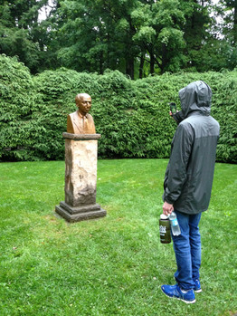 Aaron Copeland bust, Tanglewood