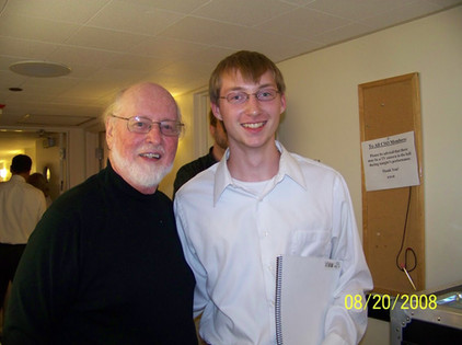 With John Williams 2008, backstage/Chicago Symphony Orchestra