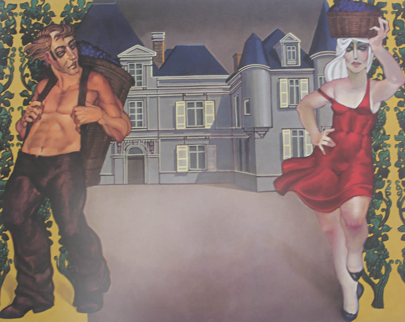 "gravura ""Chateau Haut-Briaon II"""