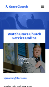Video website templates – Online-Kirche