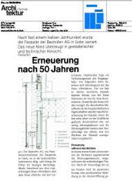 Publikation melliger & neugeboren architekten in Architektur+Technik 02/2016