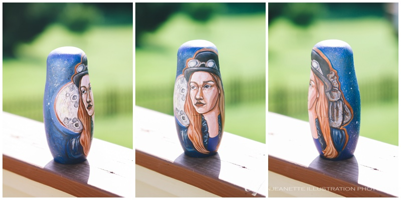Matryoshka Nesting Doll Portraits by Anjeanette Illustration