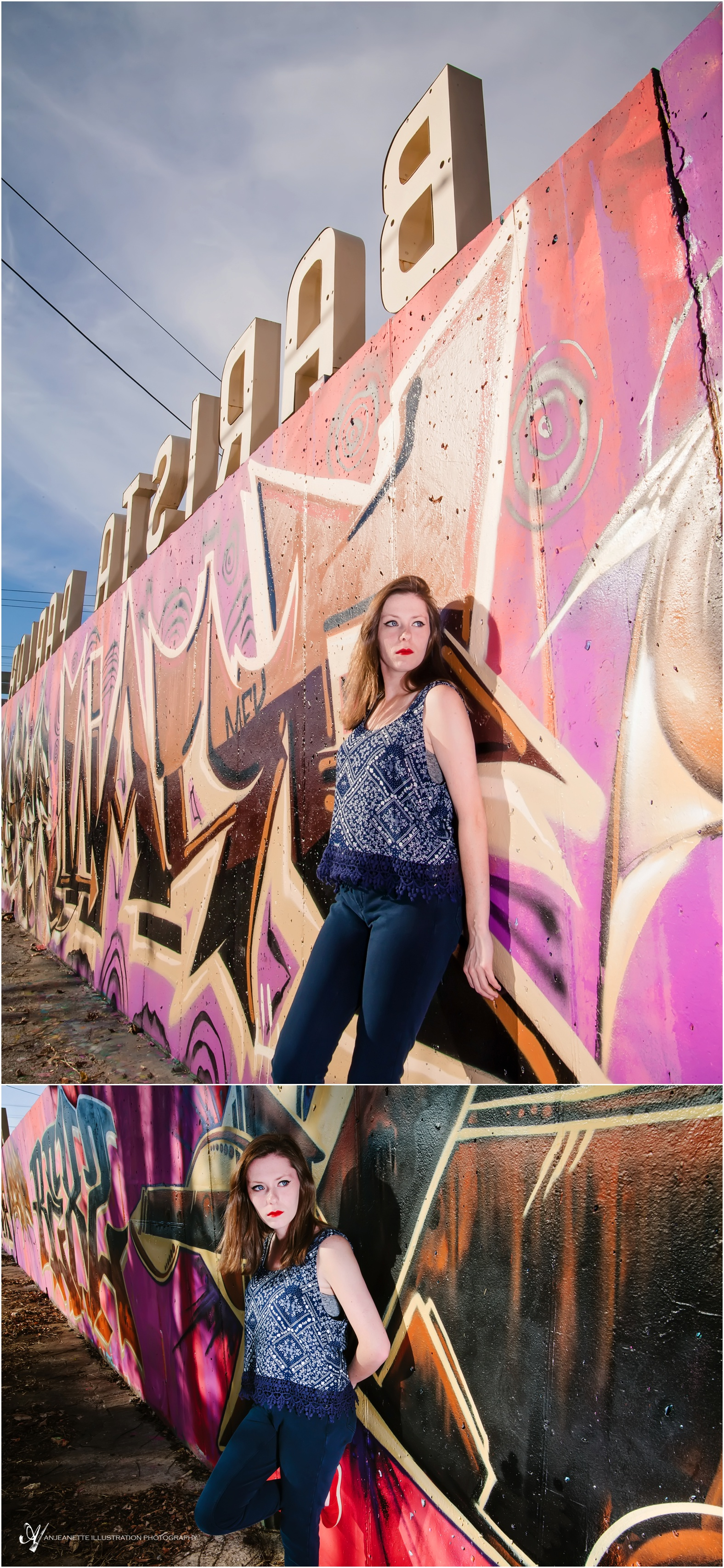 Nashville Senior portraits by Anjeanette Illustration Photography