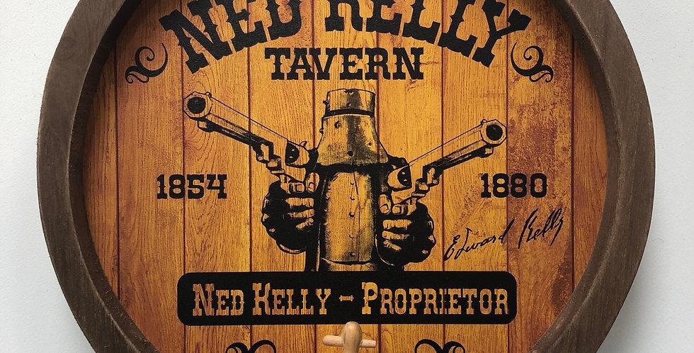 Ned Kelly Barrel Top Tavern Sign
