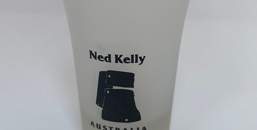 Ned Kelly Frosted Shot Glass