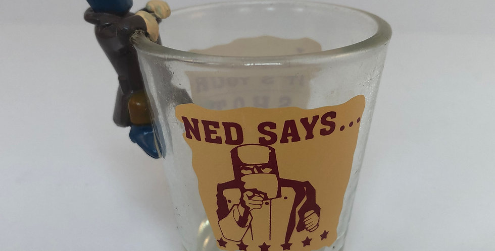 "Ned Kelly Shot Glass ""Ned Says..."""