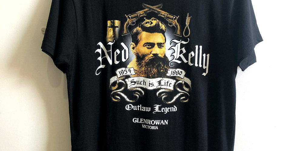 Ned Kelly Black Such Is Life T-Shirt
