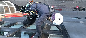 Abseiling painting and window refurishment