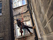 Rope access plumbing