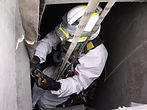 Confined space abseiling