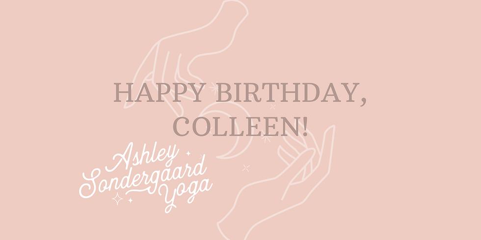 Colleen's Yoga Birthday Party