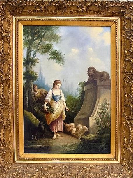 Tableau anonyme école hollandaise du XIXe siècle huile sur toile