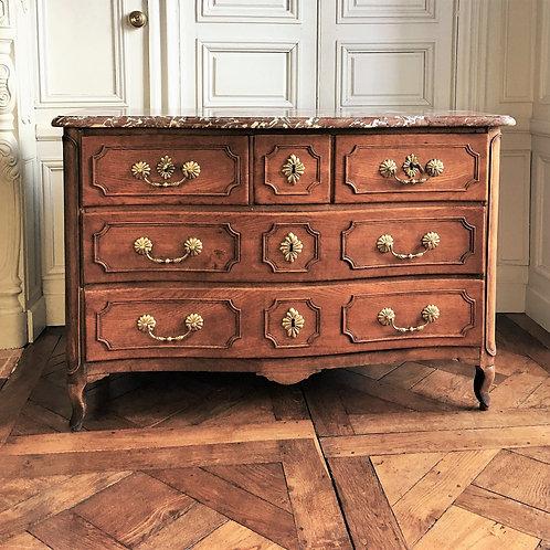 Commode époque  Louis XV galbée XVIIIe siècle