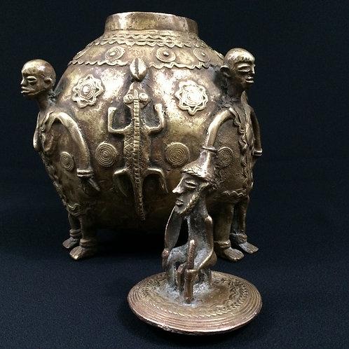 Pot à onguent bronze fin XIXe siècle