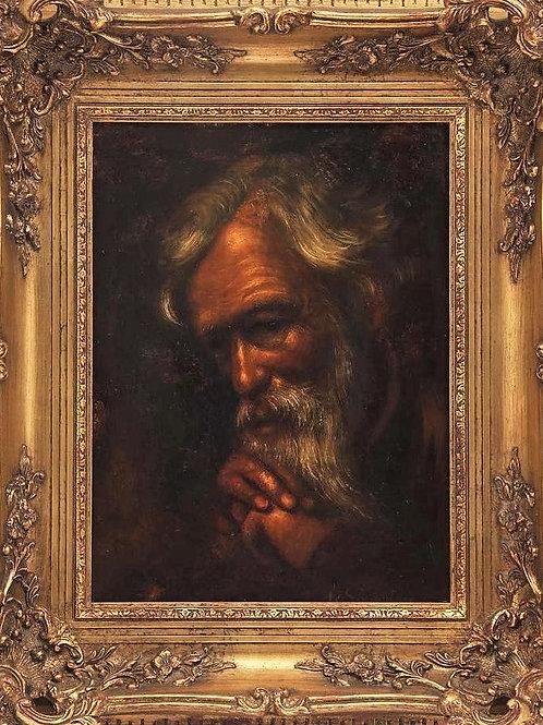 Anonyme l'homme à la barbe XIXe siècle