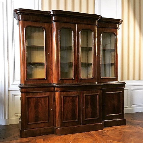 Bibliothèque estampillée époque victorienne XIXe siècle