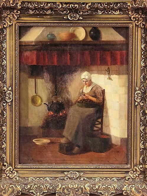 Anonyme école hollandaise du XIXe siècle tableau huile sur toile