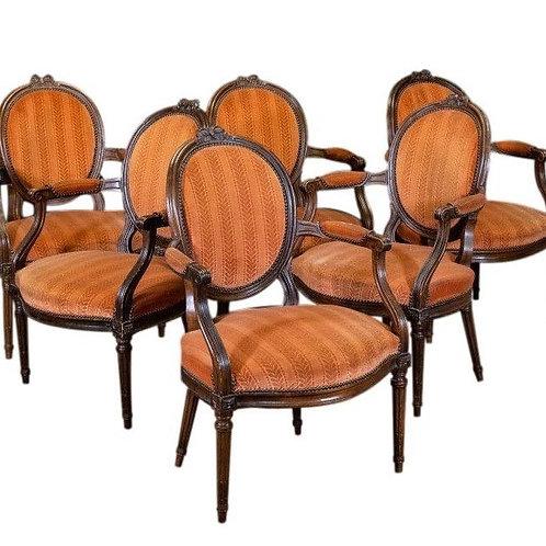 Suite de six fauteuils époque Louis XVI