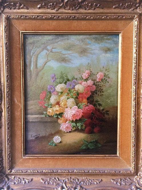 Jean Batiste EGGERICX école flamande XIXe siècle paire huile sur toile