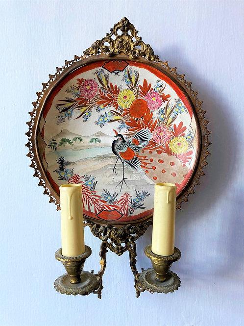 Paire d'applique en porcelaine du Japon XIXe siècle