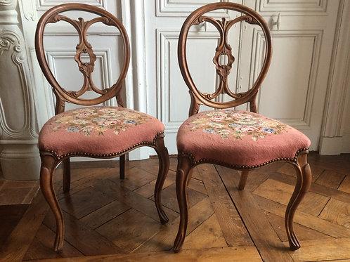 Paire de chaises époque Napoléon III XIXe siècle