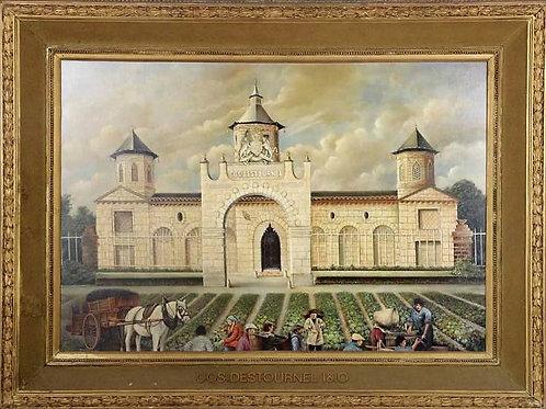 Château COS D'ESTOURNEL école hollandaise du XIXe siècle huile sur toile