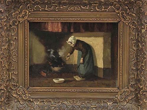 Anonyme école hollandaise du XIXe siècle huile sur toile