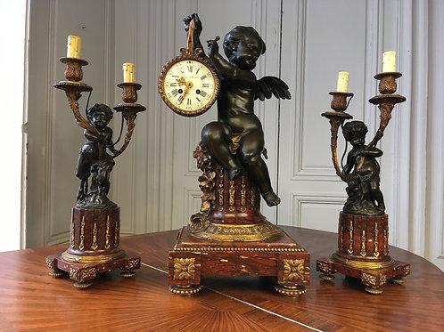 Horloge époque Napoléon III de PROSPER ROUSSEL  XIXème siècle