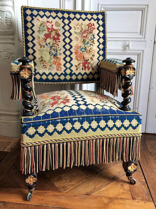 Fauteuil époque Napoléon III XIXe siècle