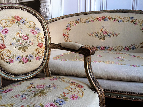 Salon de style Louis XVI XIXe siècle