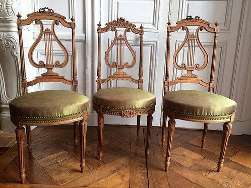 Chaises Louis XVI époque XIXe siècle