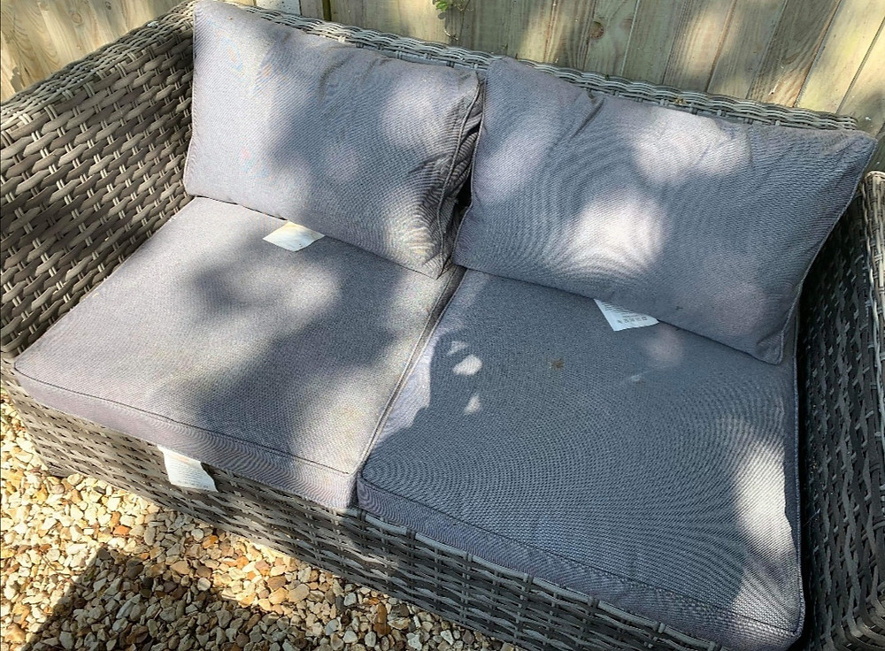 Some garden cushions that require a clean Excel Carpet Clean