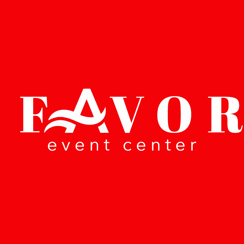 Favor Event Center logo-red background